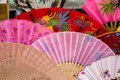 Assorted hand fans Royalty Free Stock Photography