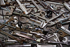 Assorted hand tools background Stock Image