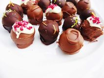 Assorted Handmade Chocolate Truffles stock image