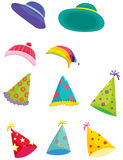 Assorted hats. An illustration of assorted hats for different occasions Stock Image