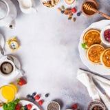 Assorted healthy breakfast Stock Images