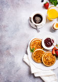 Assorted healthy breakfast Royalty Free Stock Images