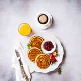 Assorted healthy breakfast Stock Photo