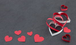 Assorted hearts Stock Images