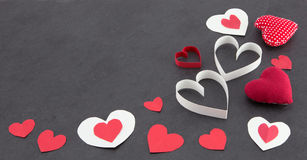 Assorted hearts Royalty Free Stock Images