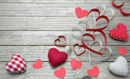 Assorted hearts Royalty Free Stock Photos