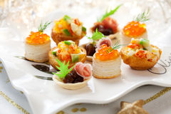 Assorted holiday  snacks Stock Photography