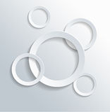 Assorted Hollow Circles on White Background Royalty Free Stock Image