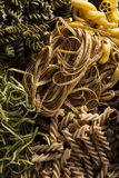 Assorted Homemade Dry Italian Pasta Stock Images