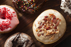 Assorted Homemade Gourmet Donuts Royalty Free Stock Photo