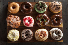 Assorted Homemade Gourmet Donuts Stock Photos