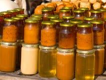 Assorted honey Stock Photo