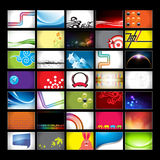 Assorted Horizontal Business Card Backgrounds royalty free illustration