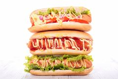Assorted hot dog Royalty Free Stock Images