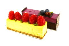 Assorted Hotel Cakes Royalty Free Stock Photography