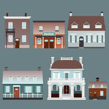 Assorted houses Stock Photos