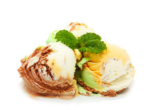 Assorted ice cream Royalty Free Stock Photo
