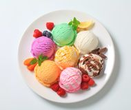 Assorted ice cream Stock Image