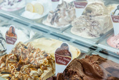 Assorted ice-cream flavours royalty free stock image