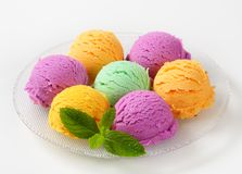Assorted ice cream Stock Images