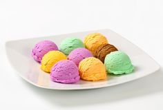 Assorted ice cream Royalty Free Stock Photography