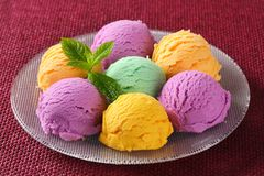Assorted ice cream Royalty Free Stock Photos