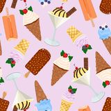 Assorted ice cream seamless pattern. Vector illustration vector illustration