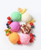 Assorted ice cream. Studio shot of various types of ice cream stock photography