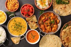 Assorted indian dish royalty free stock photo