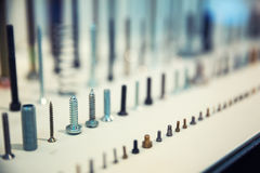 Assorted industrial screws Stock Photos