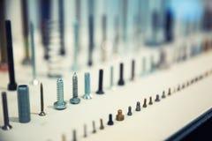 Assorted industrial screws Stock Photos