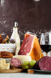 Assorted italian food Stock Photography
