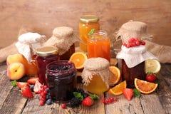 Assorted jam and marmalade Royalty Free Stock Photos