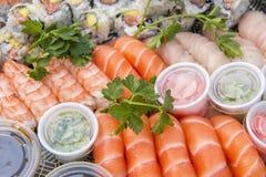 Assorted japanese sushi Royalty Free Stock Image