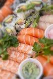 Assorted japanese sushi Royalty Free Stock Photos