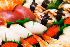 Assorted japanese sushi Stock Photography