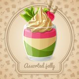 Assorted jelly badge vector illustration