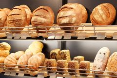 An Assorted kinds of fresh baked bread Stock Photography