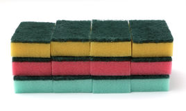 Assorted Kitchen Sponges Royalty Free Stock Photography
