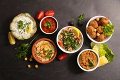 Assorted lebanese dish royalty free stock photos