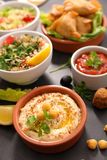 Assorted of lebanese food royalty free stock images