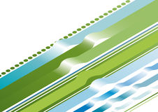 Assorted lines with bump. Illustration of lines of various thickness, with bumps in them Stock Photo