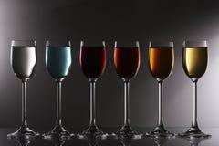 Assorted liqueurs Royalty Free Stock Photos