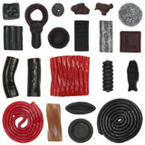 Assorted liquorice. Cut outs of assorted liquorice Stock Photo