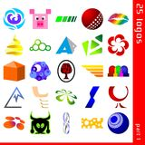 Assorted logos 1. Set of 25 icons for logo construction Royalty Free Stock Images