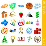 Assorted logos 2. Set of 25 icons for logo construction Stock Image