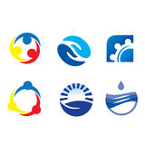 Assorted Logos. Different logo concepts for internet business Stock Photos