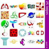 Assorted logos 4. Set of 25 icons for logo construction Royalty Free Stock Photo