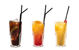 Assorted long drinks royalty free stock photo