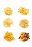Assorted macaroni-pasta Royalty Free Stock Photos